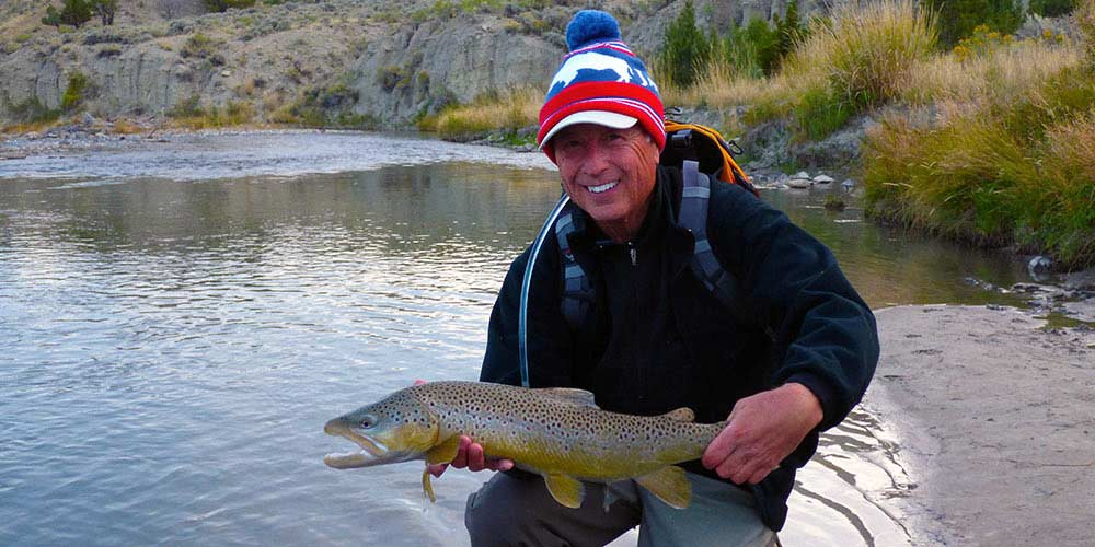 Large brown trout are possible on walk-wade trips